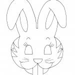 Máscara de coelho para pintar