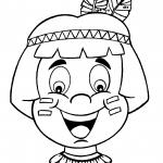Máscara de Índio para o Dia do Índio
