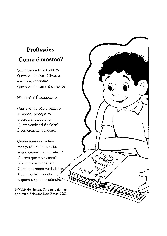 Texto da poesia Profissões Como é Mesmo?