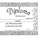 Modelo de diploma para o Dia das Mães
