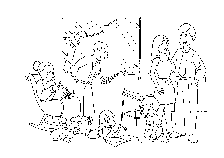 Desenhos Para Colorir De Familia So Atividades