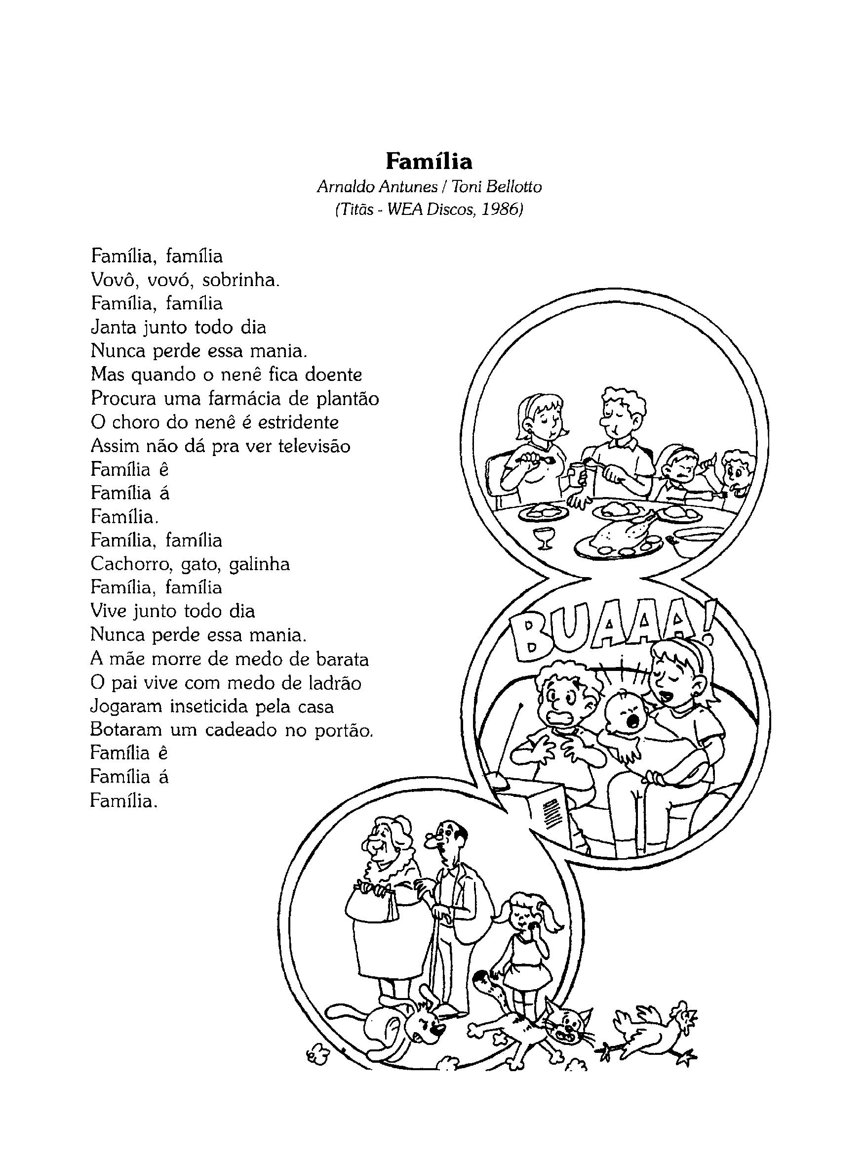 Letra da música 'Família'