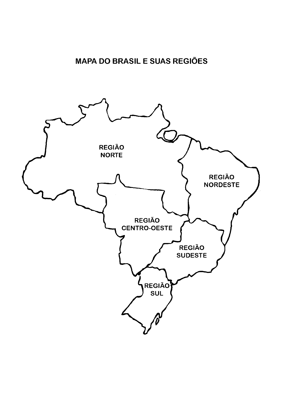 Mapa do Brasil e sua regiões