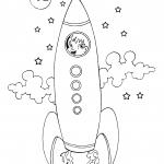 Desenhos para imprimir e colorir de Foguetes