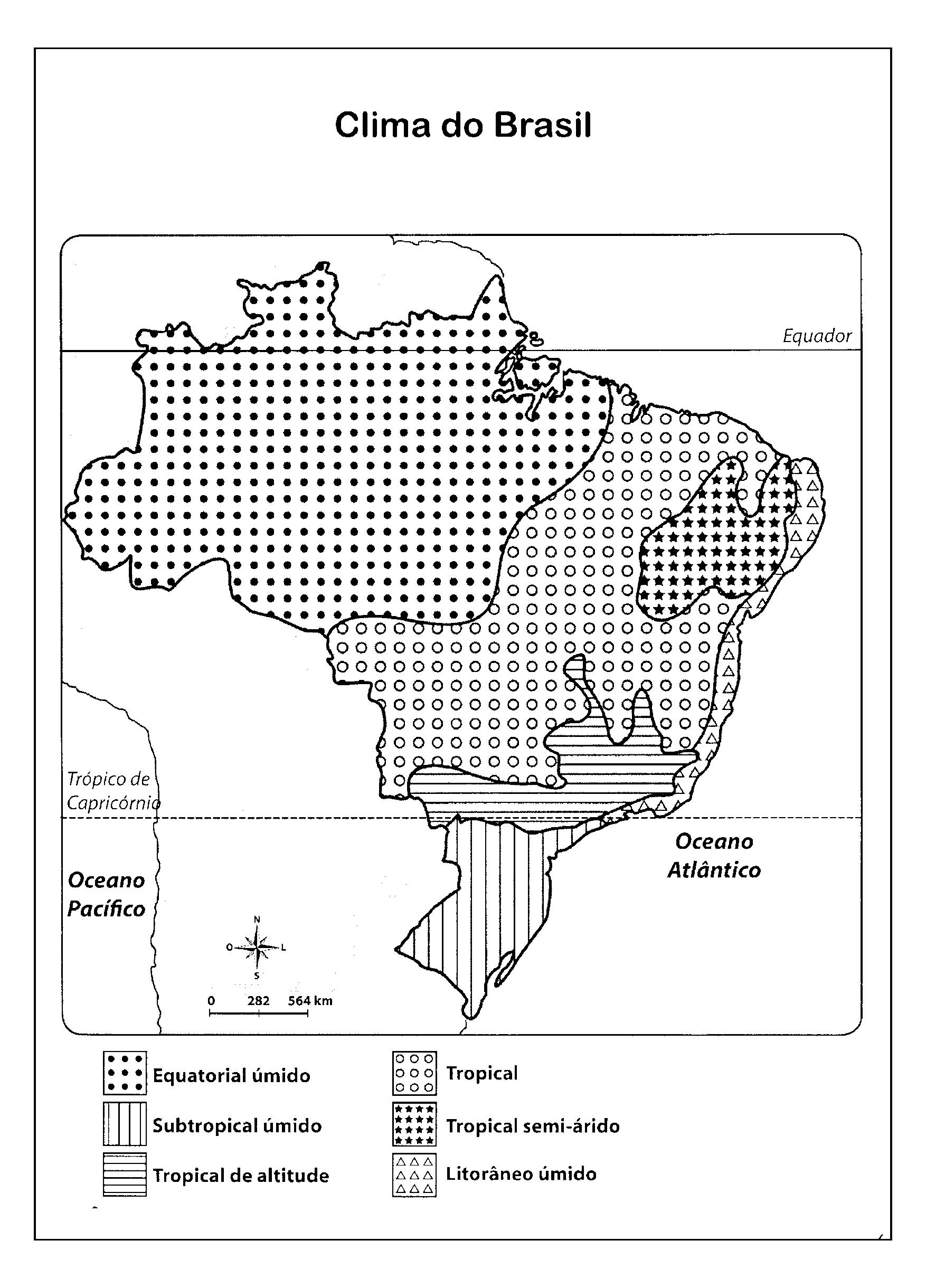 Mapa das Bacias Hidrográficas do Brasil