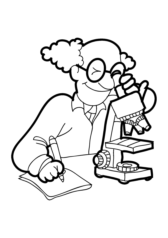 Cientista para colorir