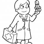 Médico para colorir
