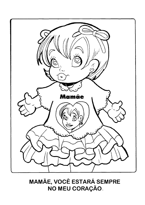 Menina com Mamãe estampada na camiseta