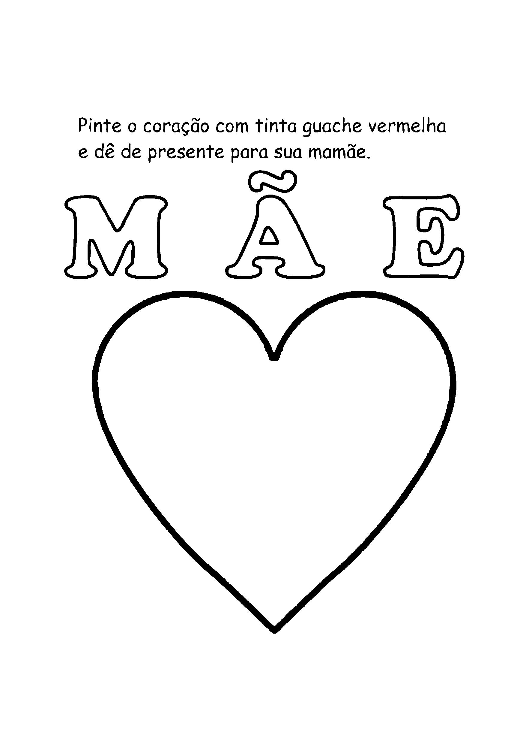 Pintar o coração com guache