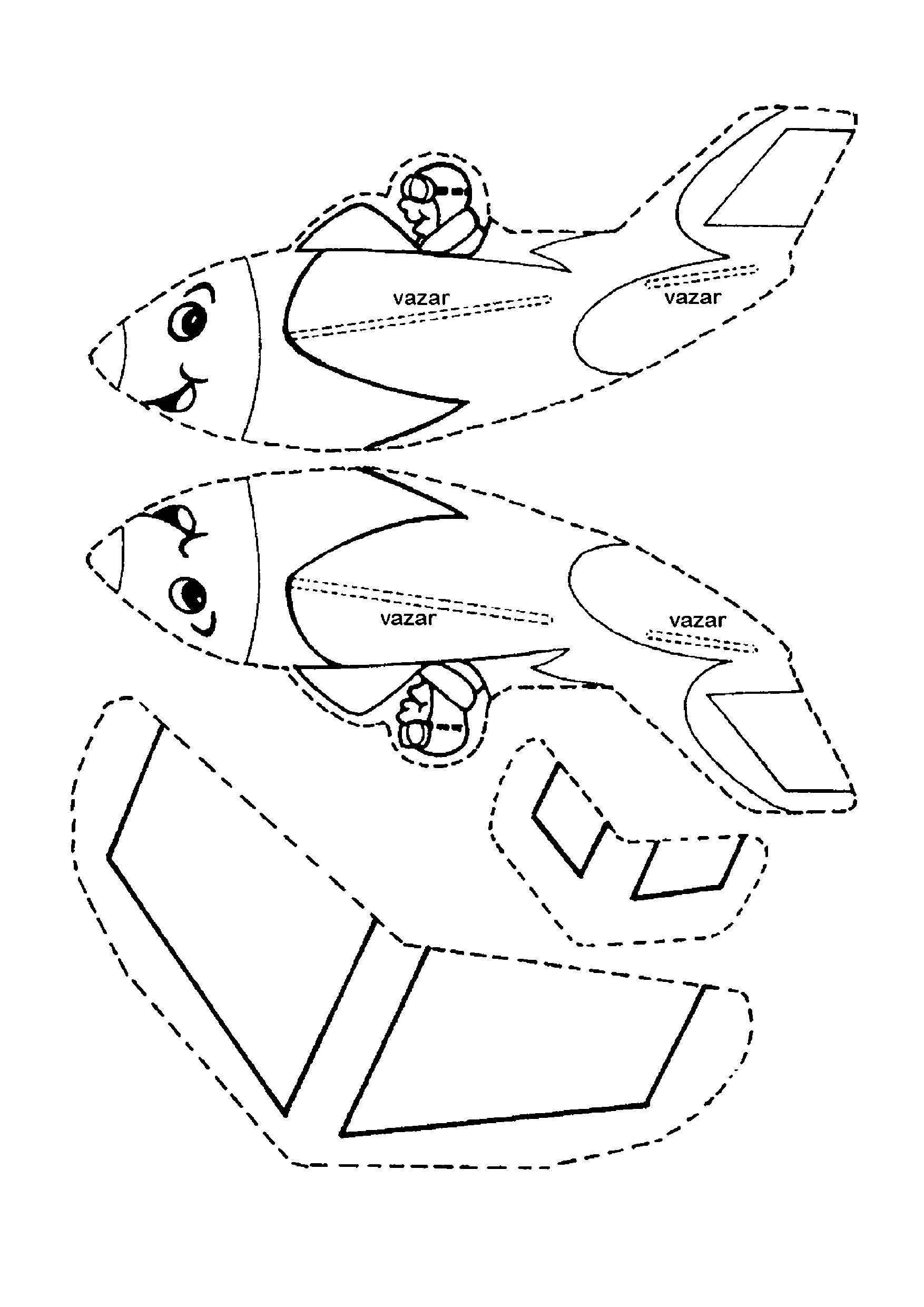 Molde de avião 3D