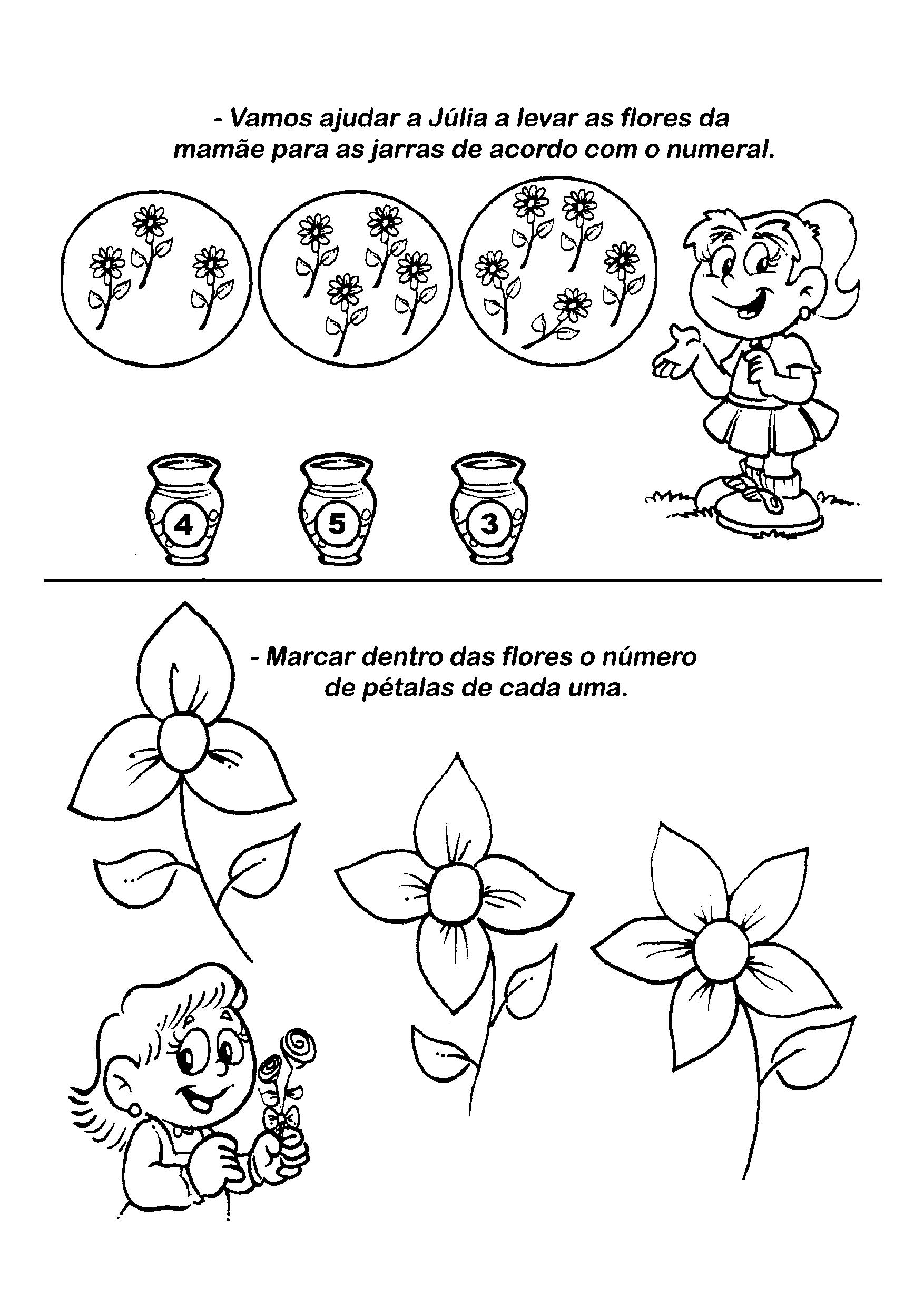 Atividde com numerais para o dia Das Mães