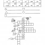 Atividade de formar palavras juntando os códigos