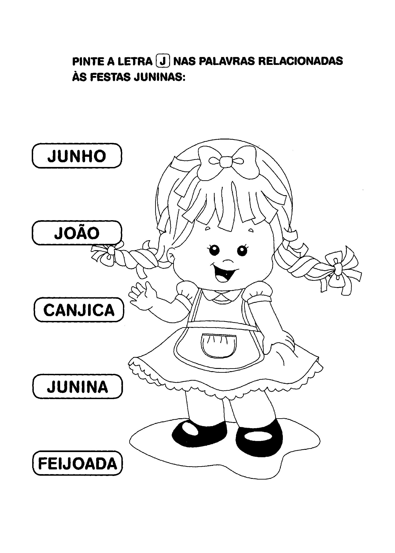 Atividade pintar a letra J