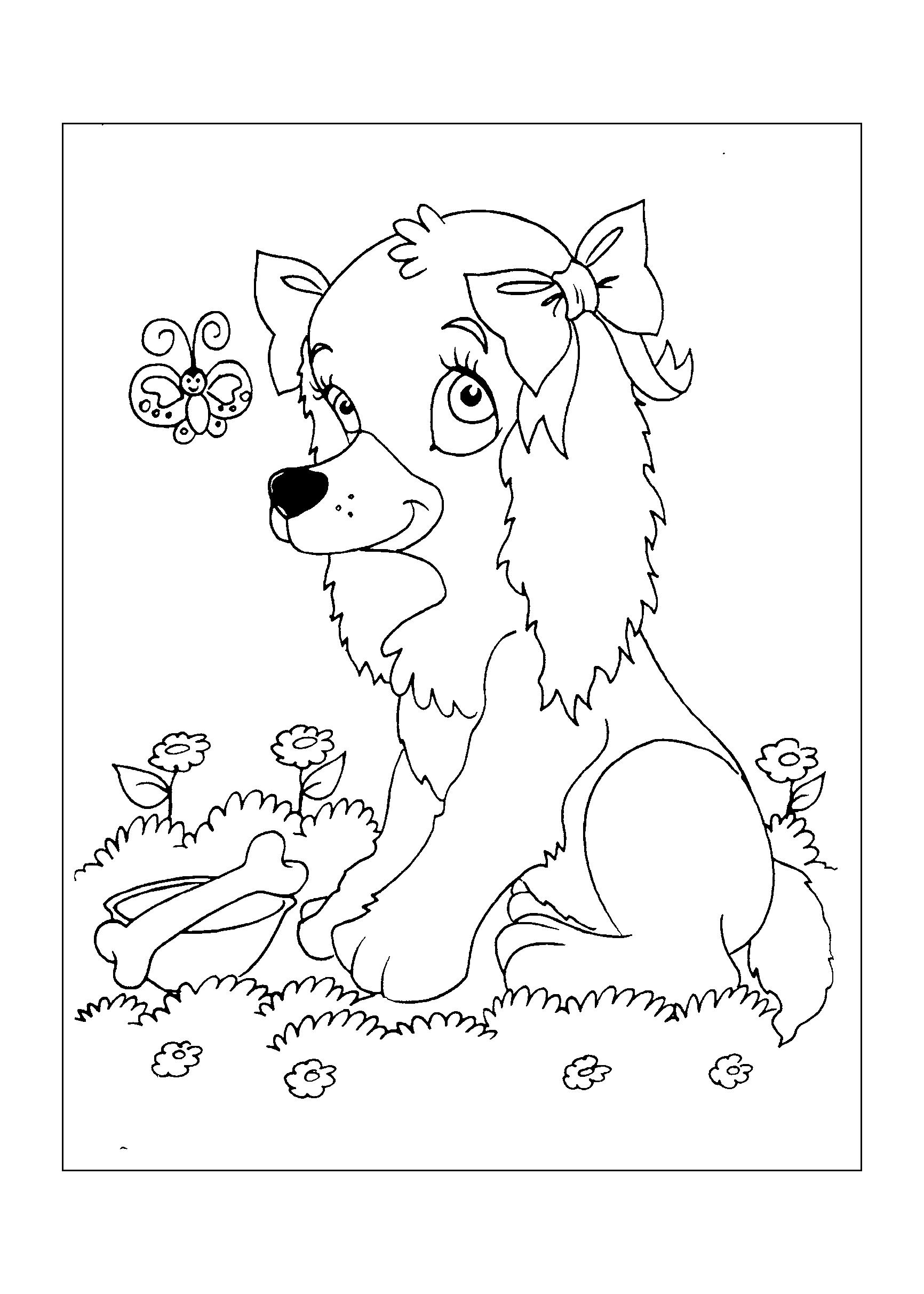 0169-desenho-colorir-cachorra