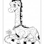 Desenhos para imprimir e colorir de Girafas