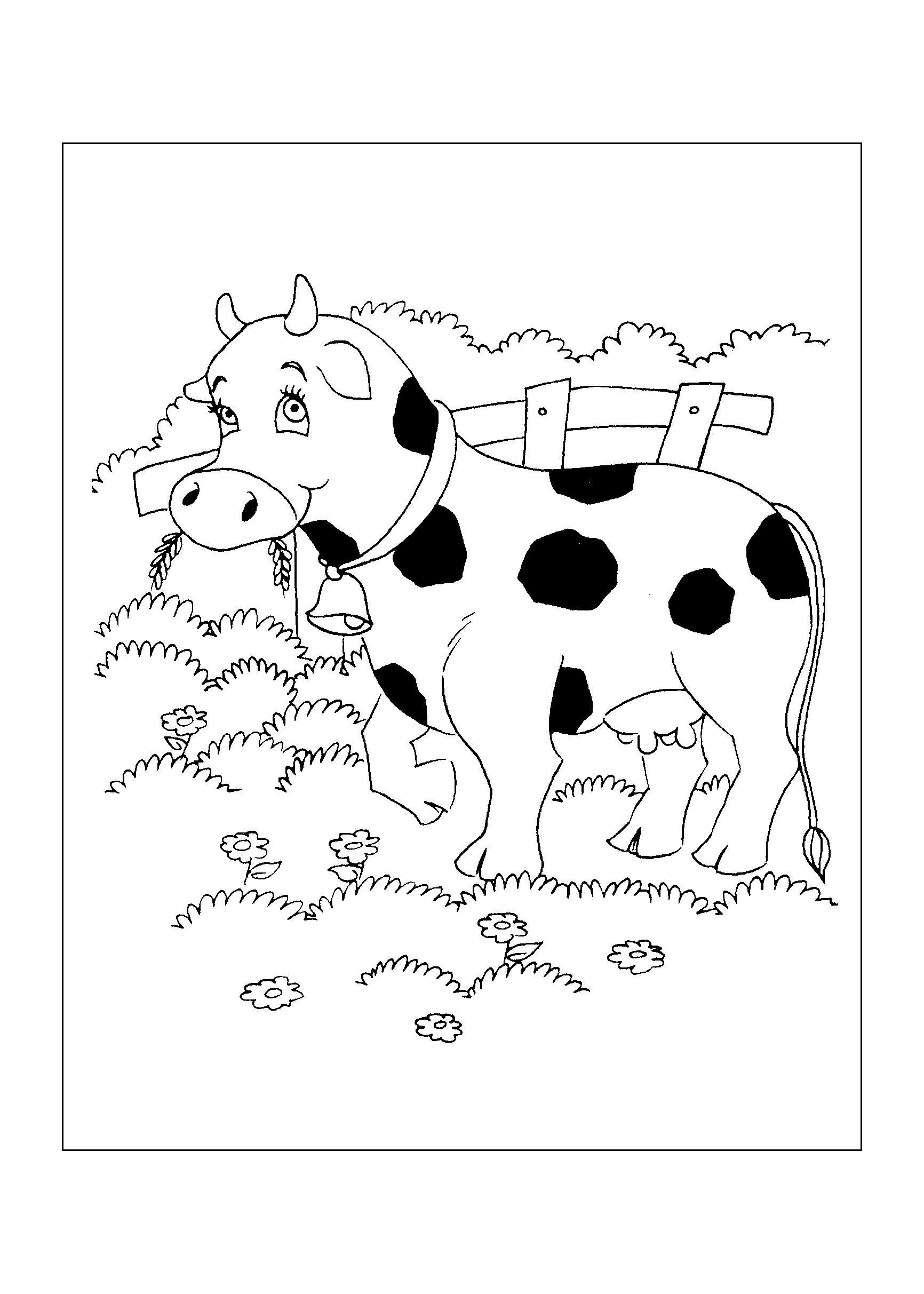 Desenhos Para Imprimir E Colorir De Vacas