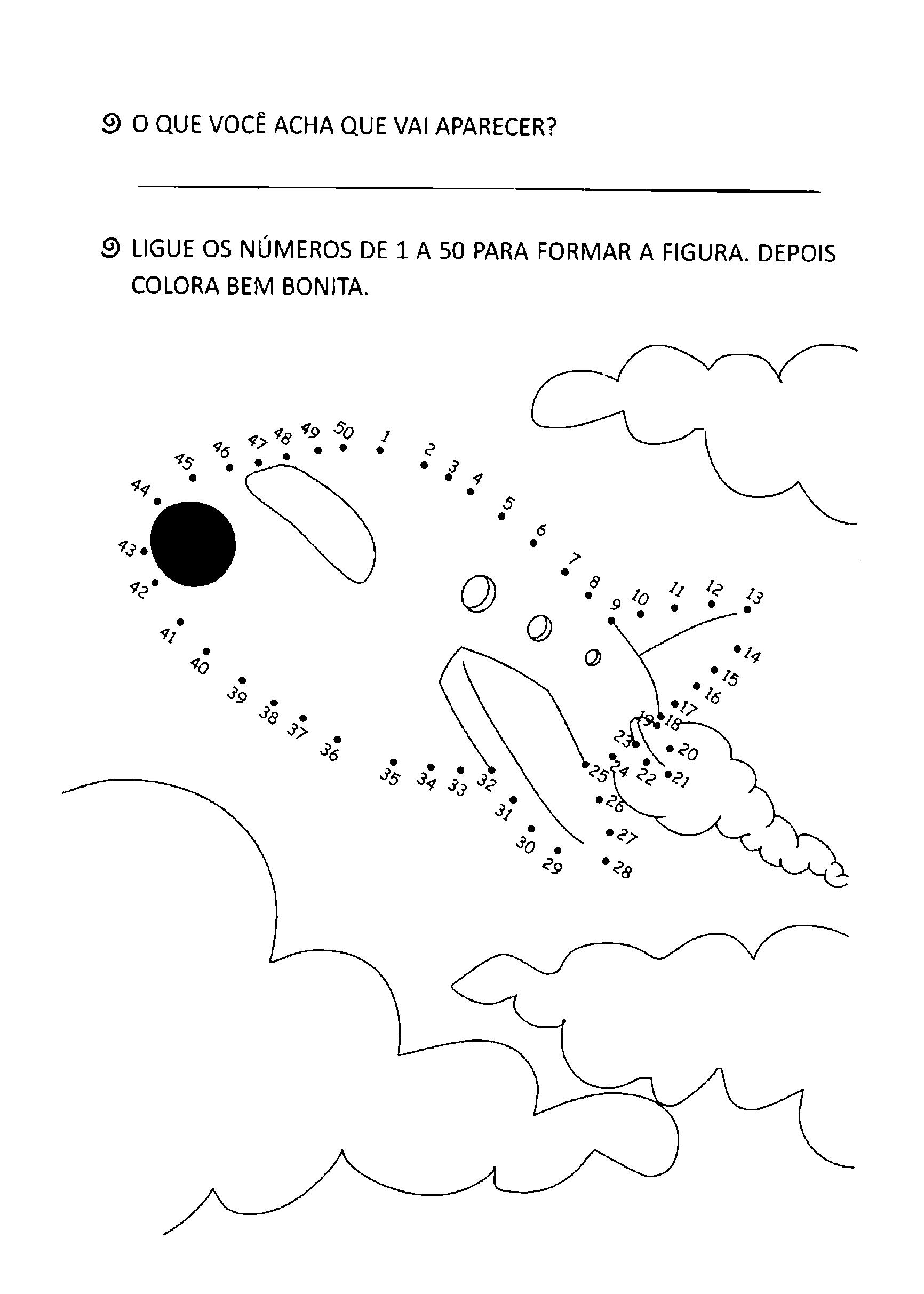 Atividades de ligar os pontos para imprimir