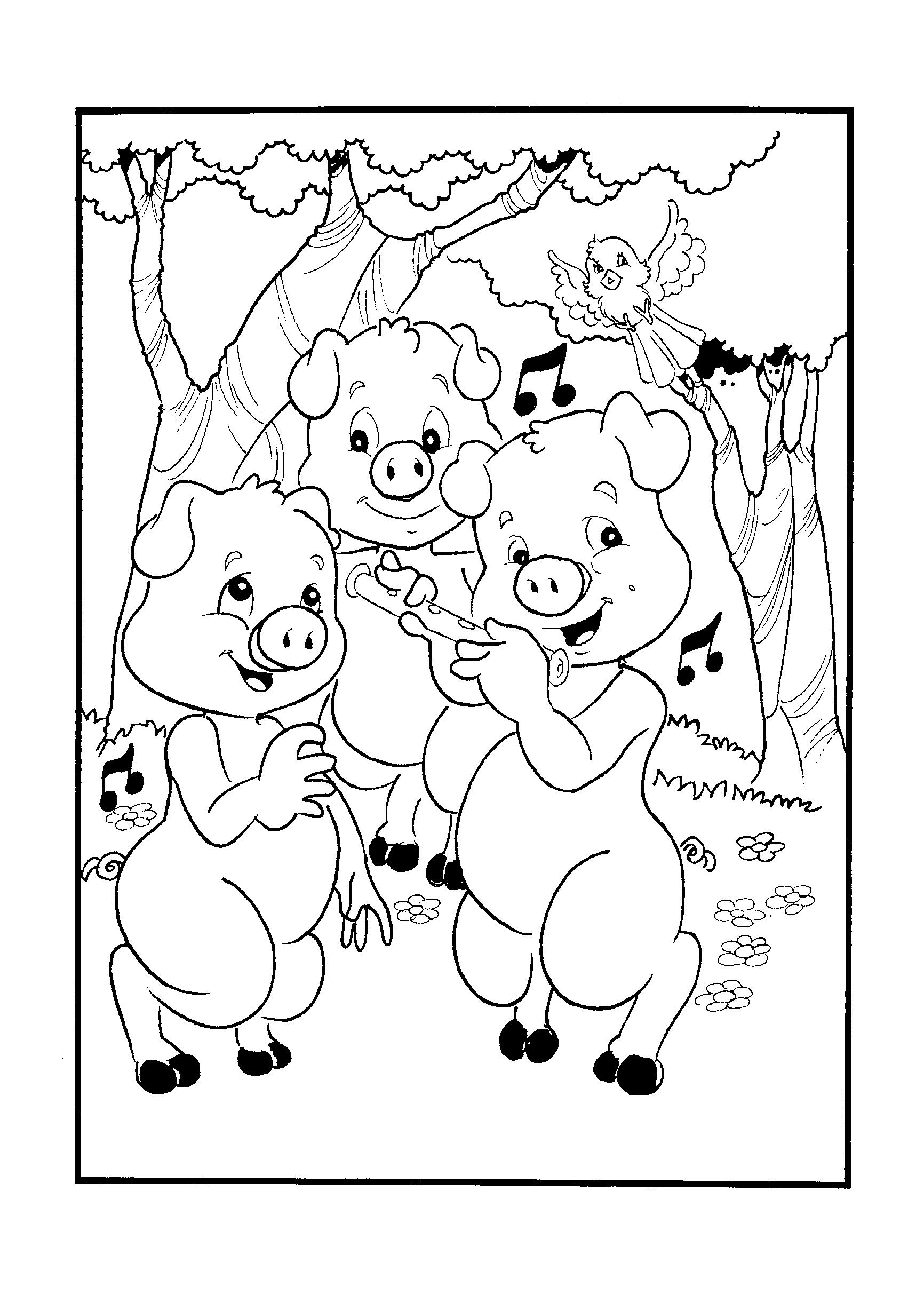 Desenho dos três porquinhos
