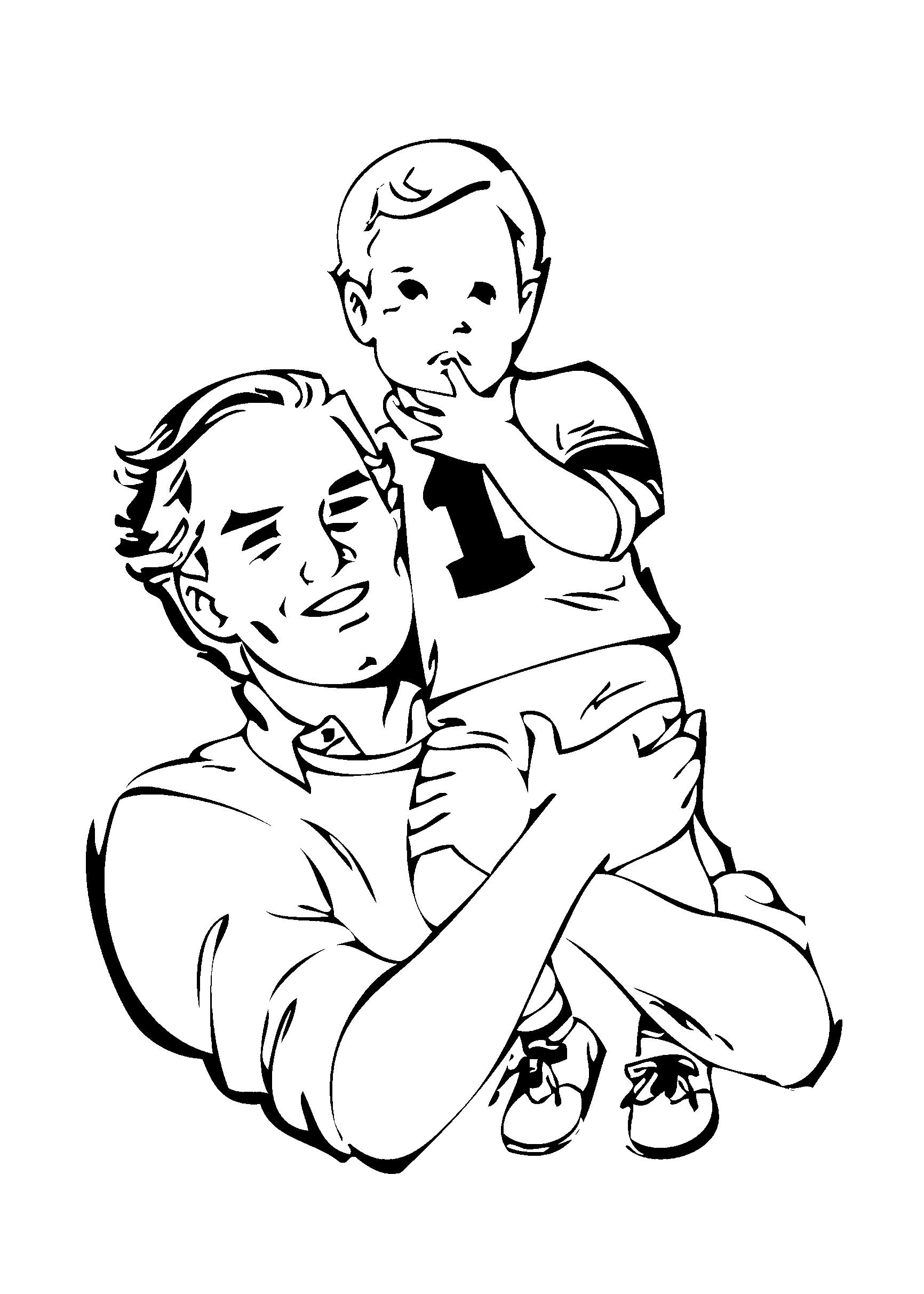 Famosos Desenhos para colorir do dia dos pais para imprimir PO48