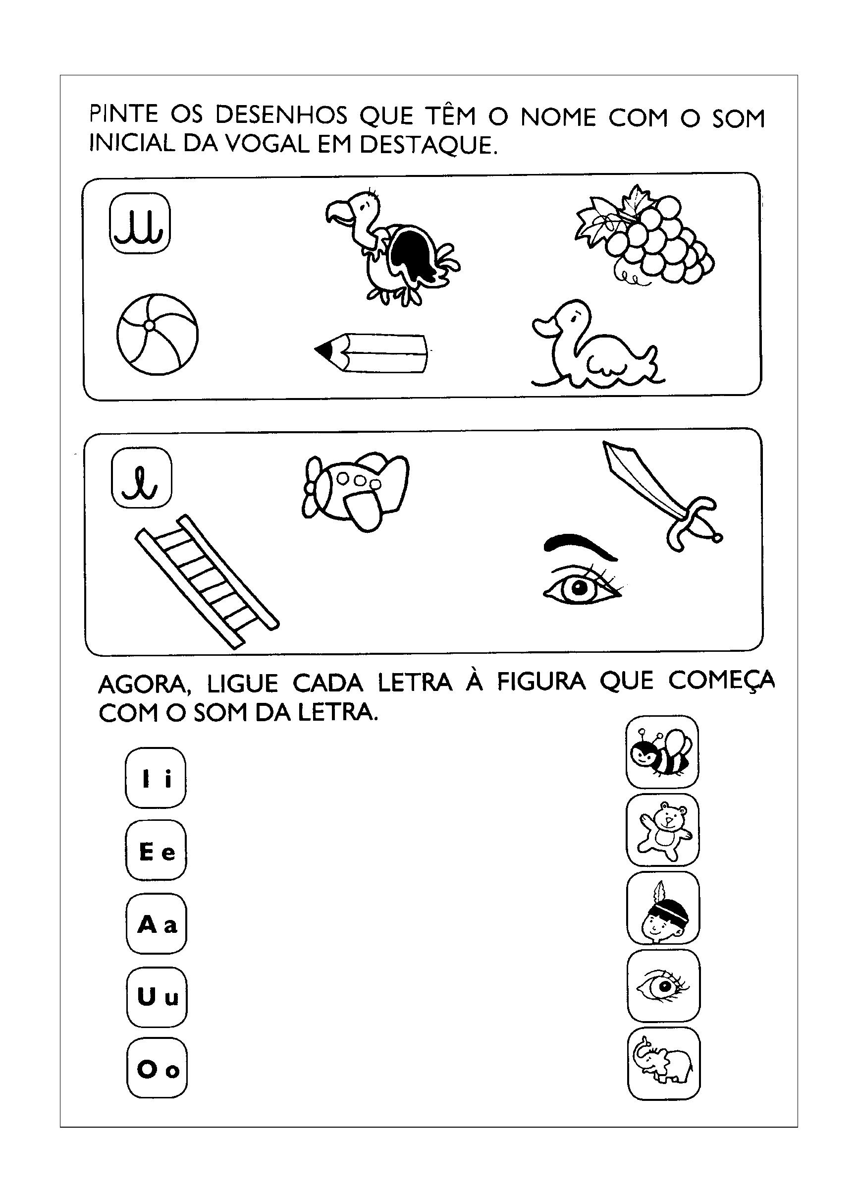 Famosos Atividades com as Vogais para Educação Infantil para imprimir CD08