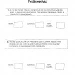 Probleminhas simples de Matemática para Educação Infantil para imprimir