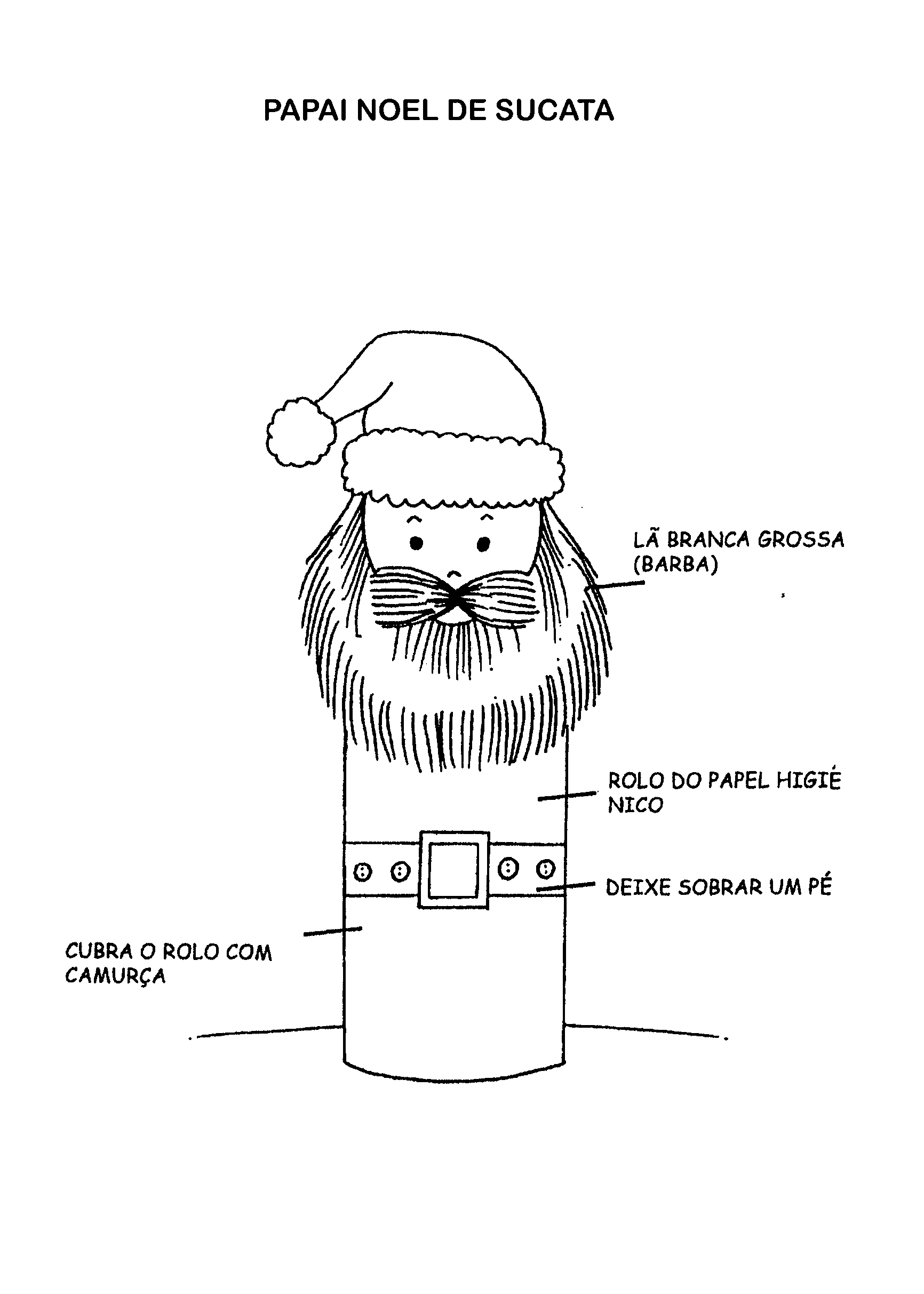 modelo lembrancinha natal papai noel