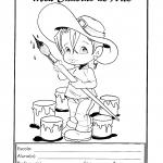 Capas para cadernos de atividades com desenhos para colorir