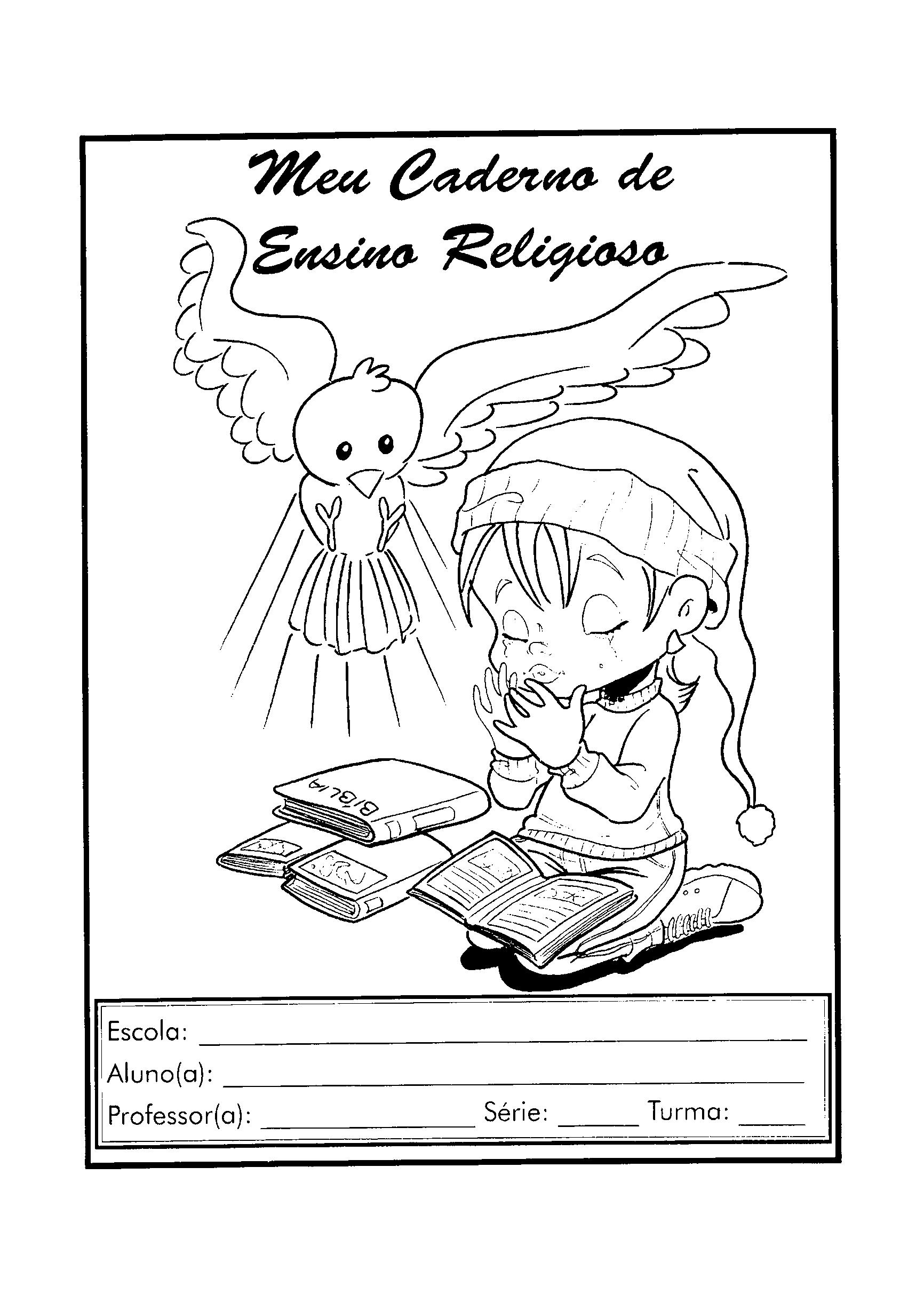 Top Capas para cadernos de atividades com desenhos para colorir - Só  XB16