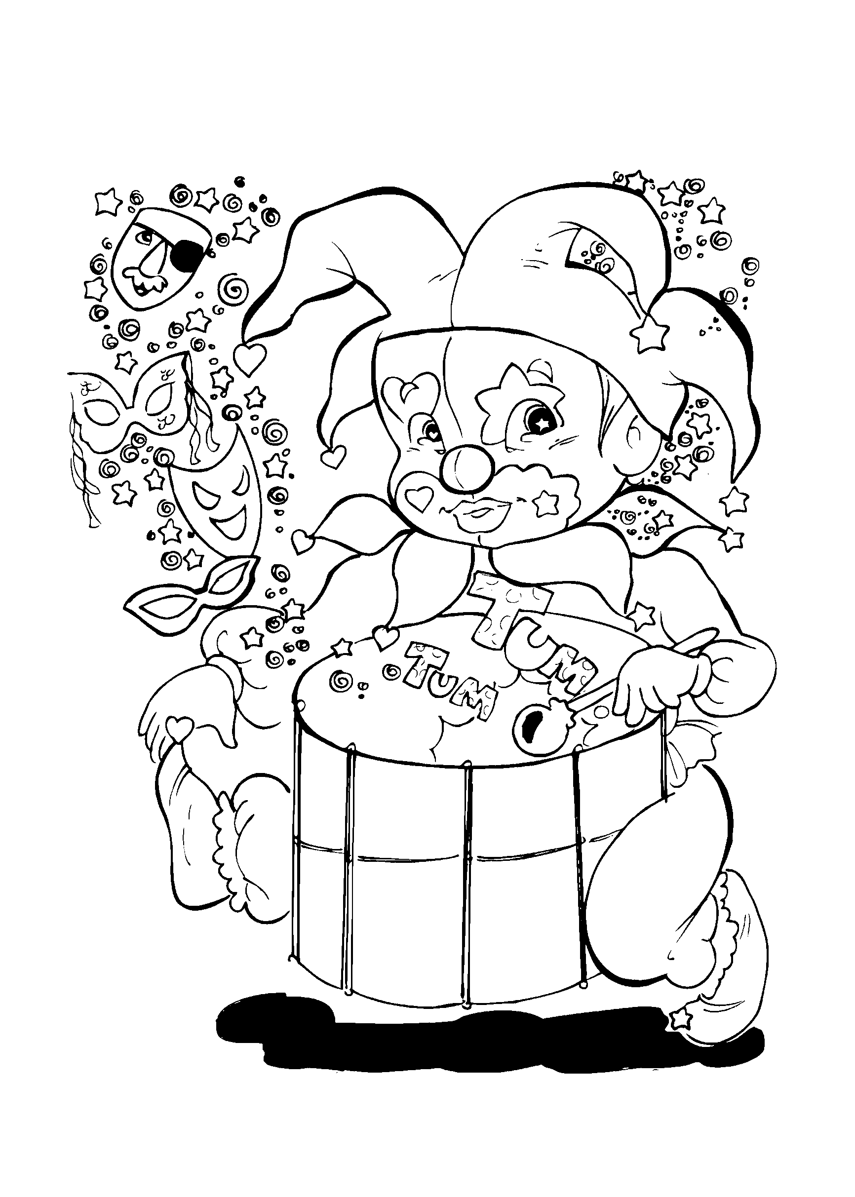 desenho-carnaval-bobo-tambor