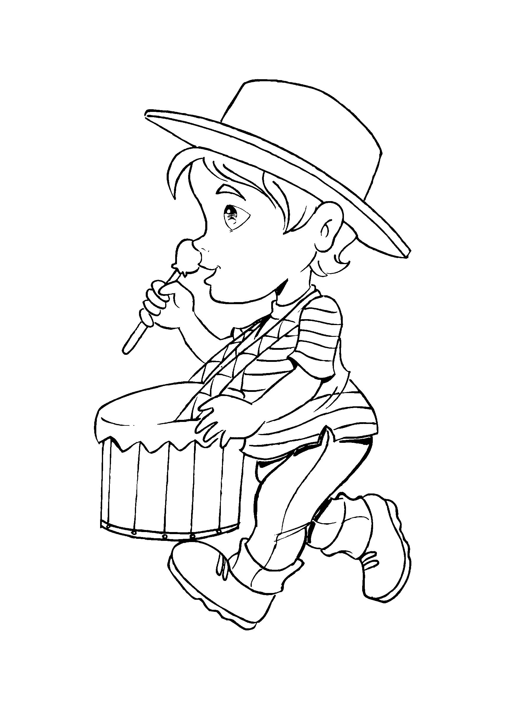desenho-carnaval-menino-tambor