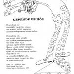 Letras de músicas diversas com desenhos para colorir