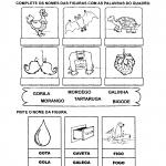 Atividades com os nomes das figuras para imprimir