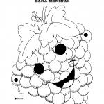 Máscaras para a Semana da Alimentação para imprimir e colorir