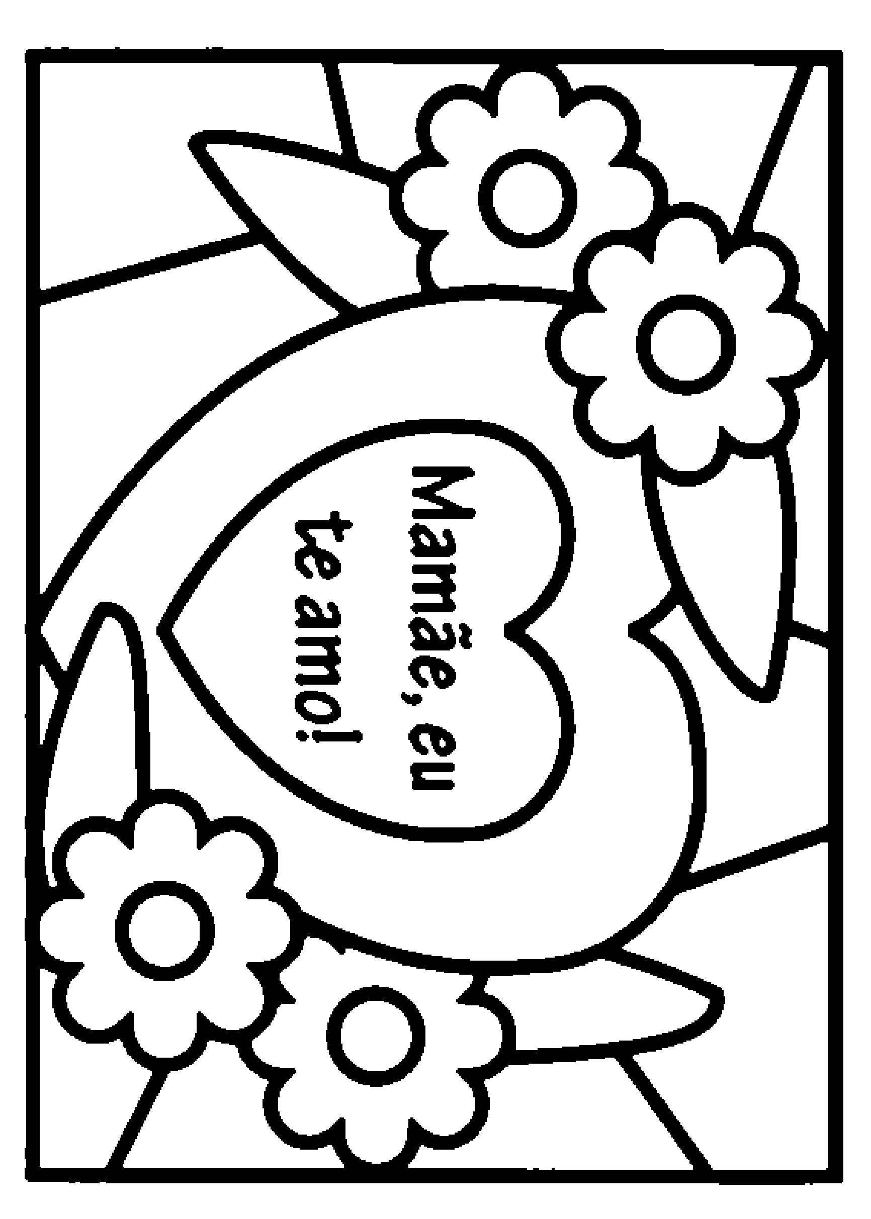 Cartão: Mamãe, eu te amo!