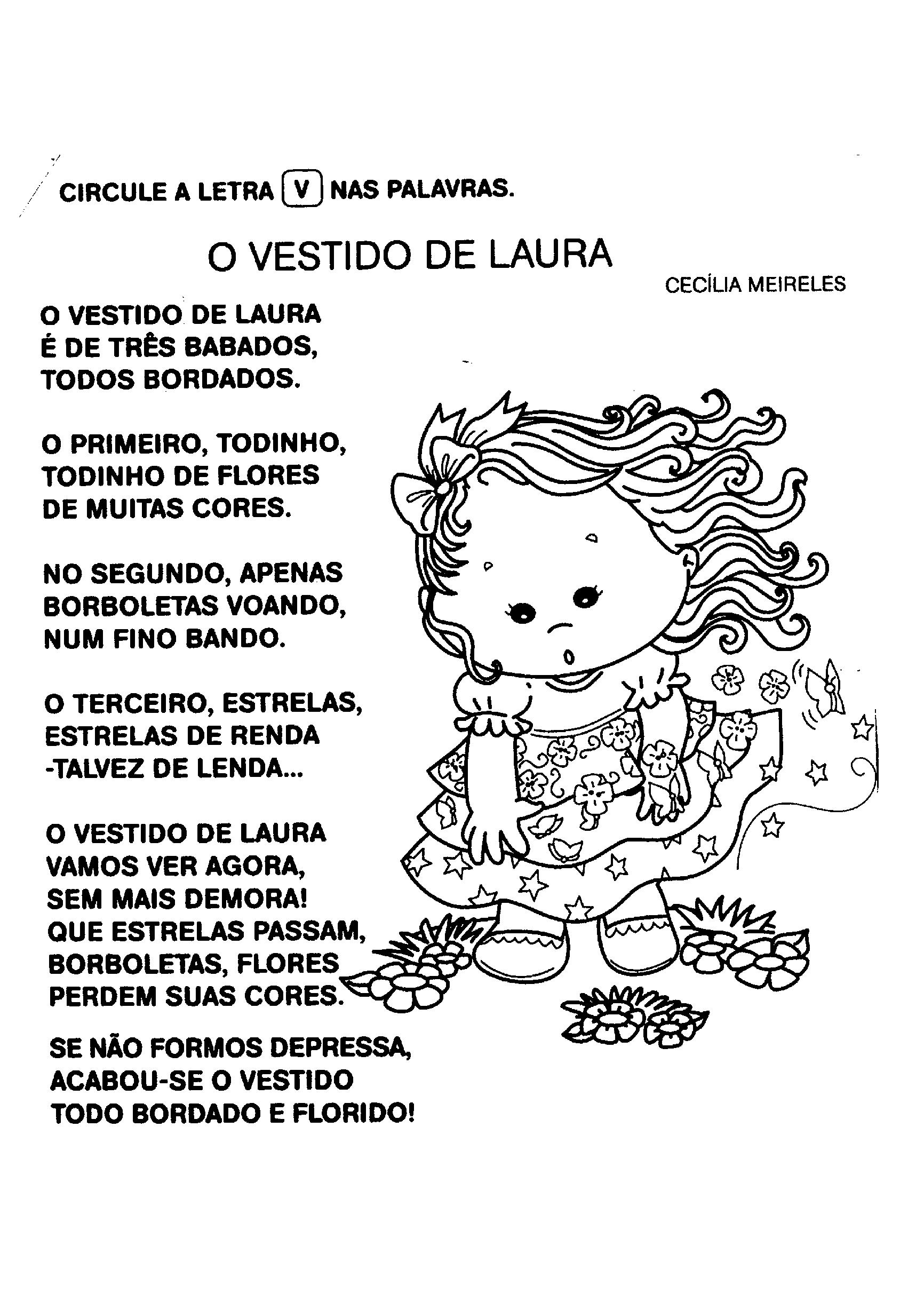 Poema O Vestido de Laura