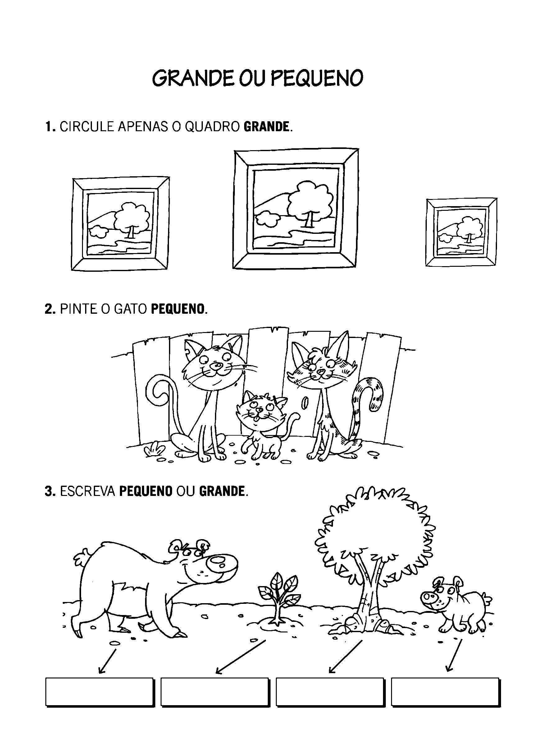Atividade com tamanho