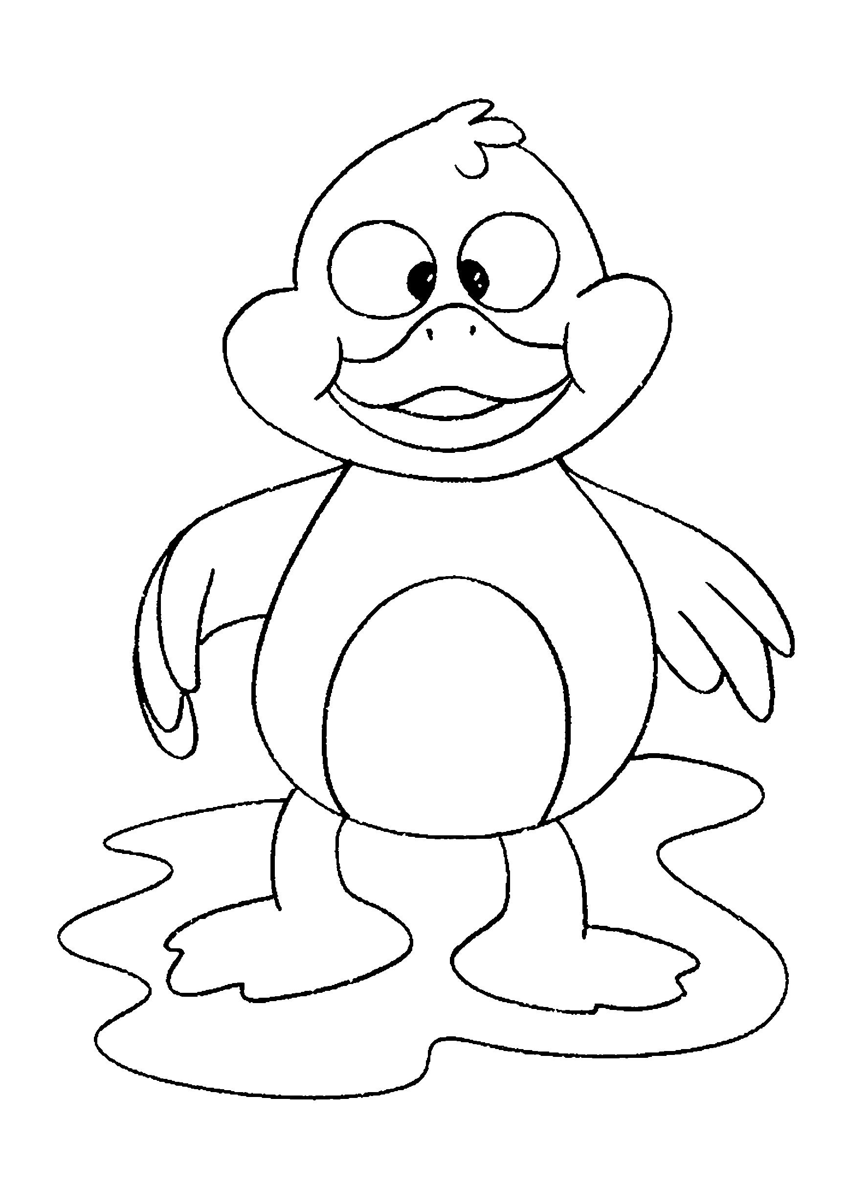 Desenho de patinho bebê