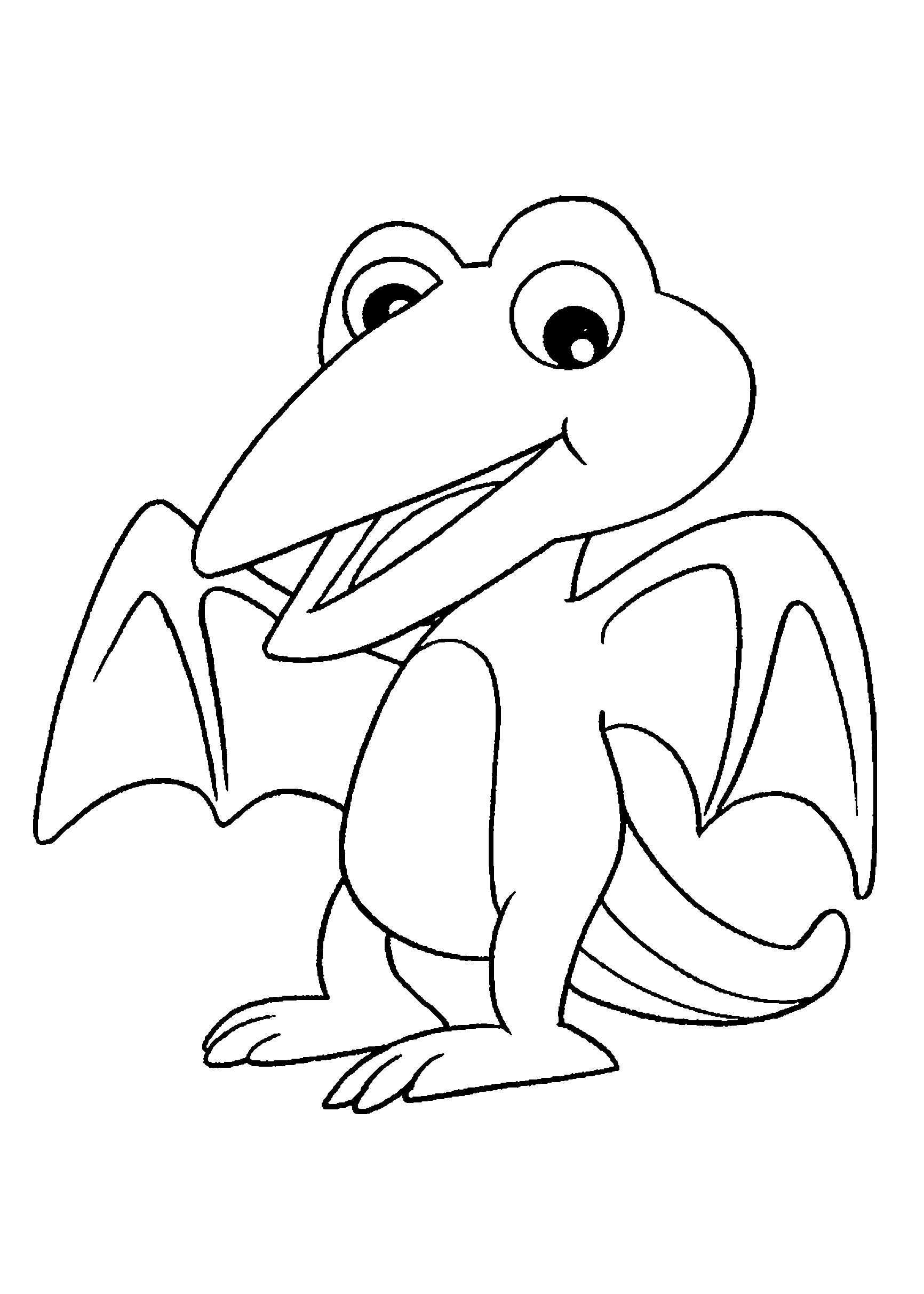 Desenho de Dinossauro bebê com asas