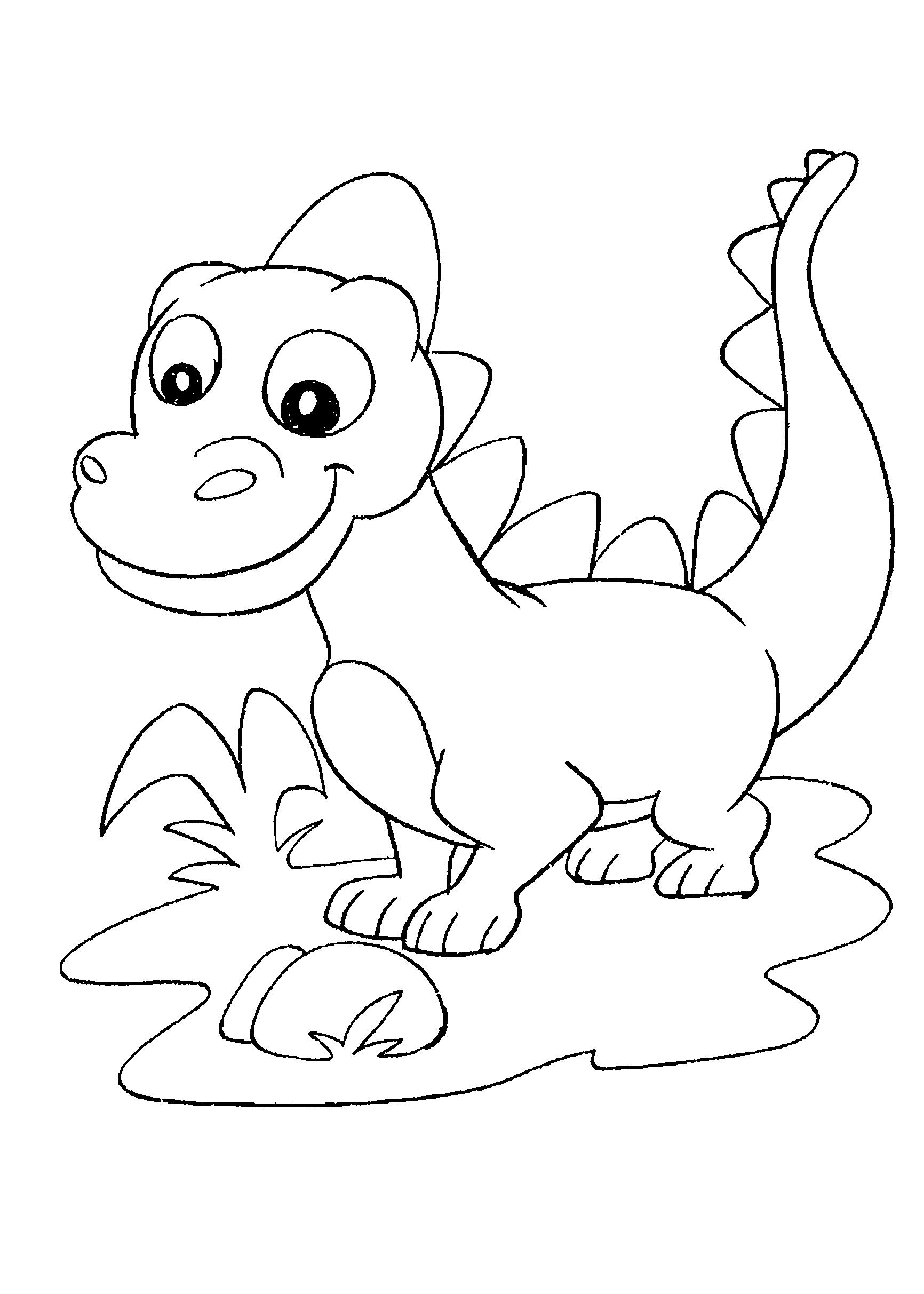 Desenho de Dinossauro criança