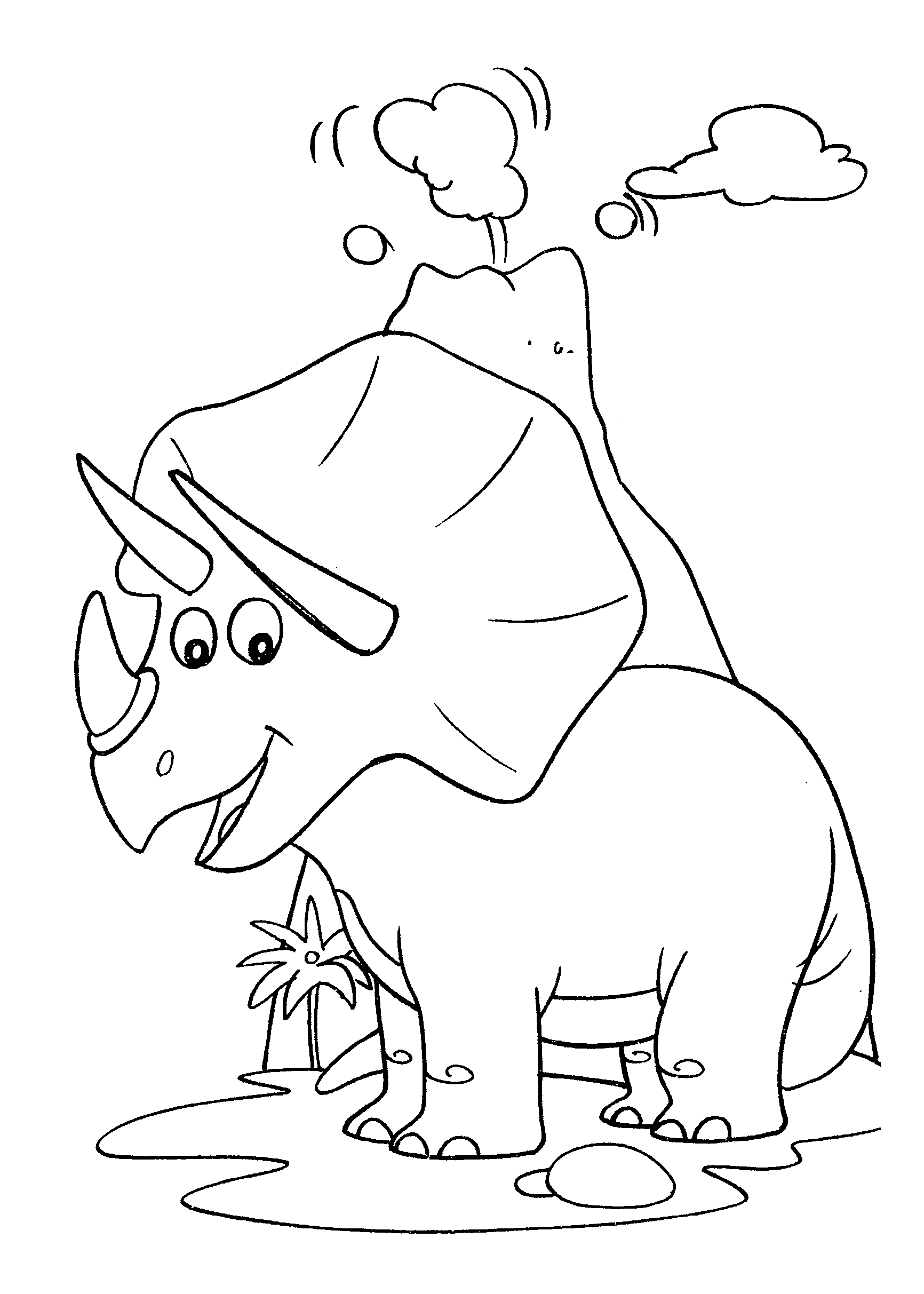 Desenho de Dinossauro: menina chifes