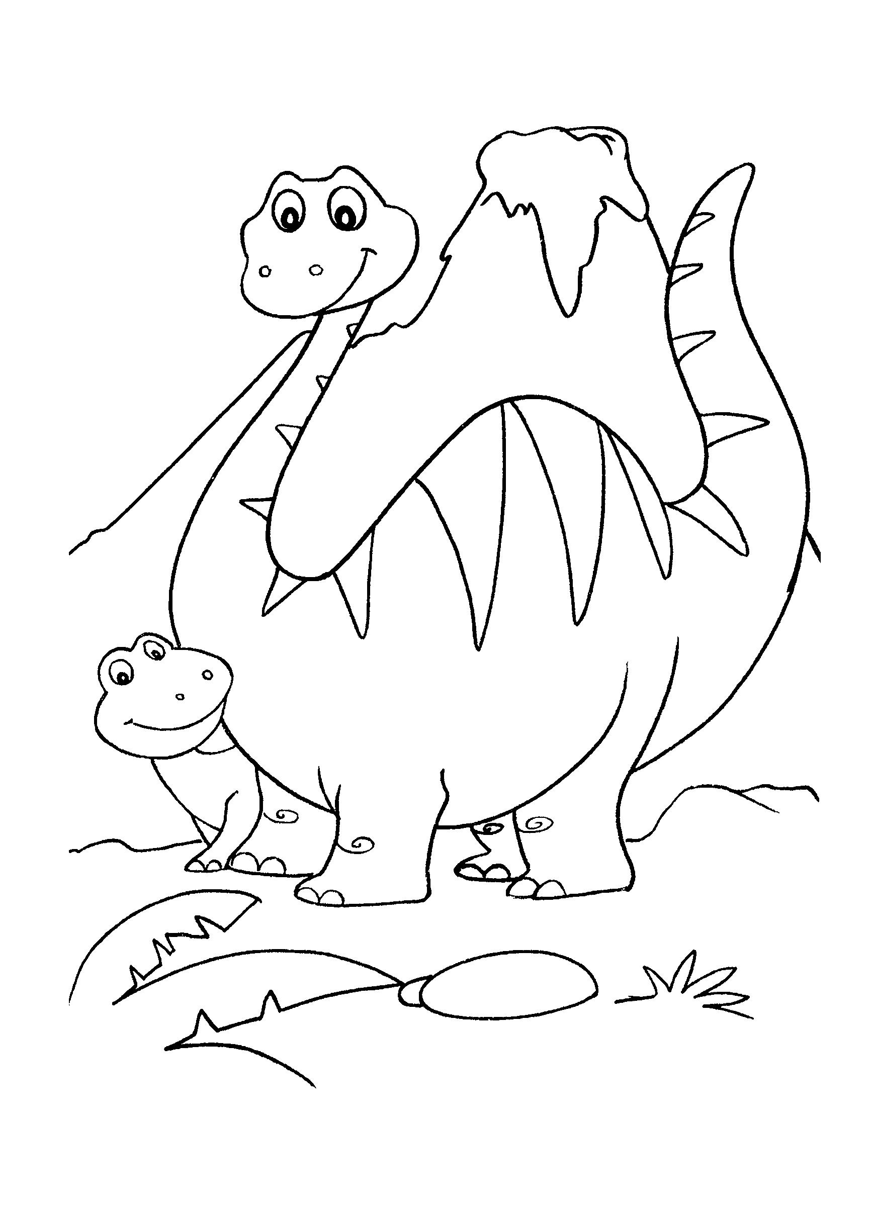 Desenho de Dinossauro bebê debaixo