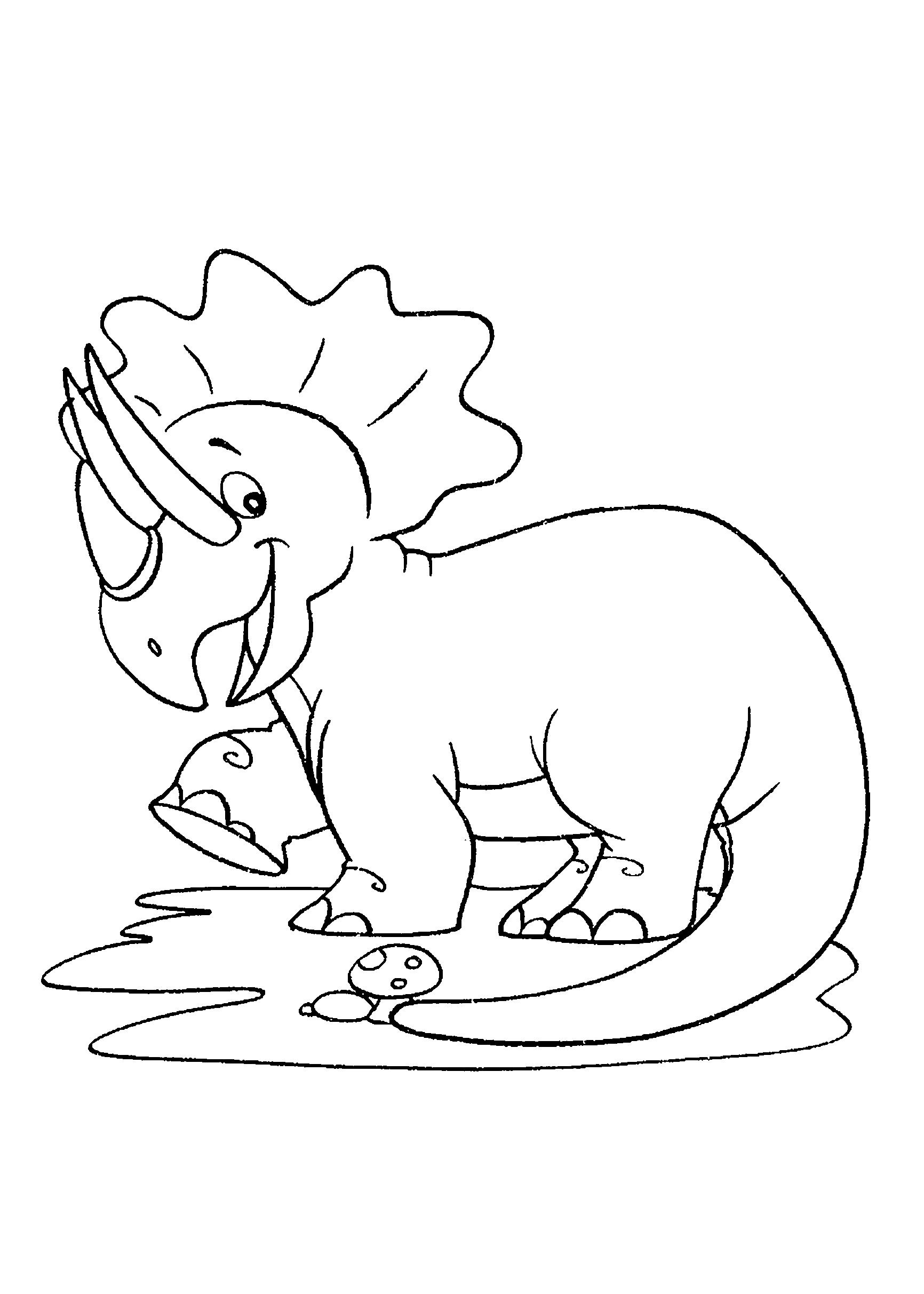 Desenho de Dinossauro: menina