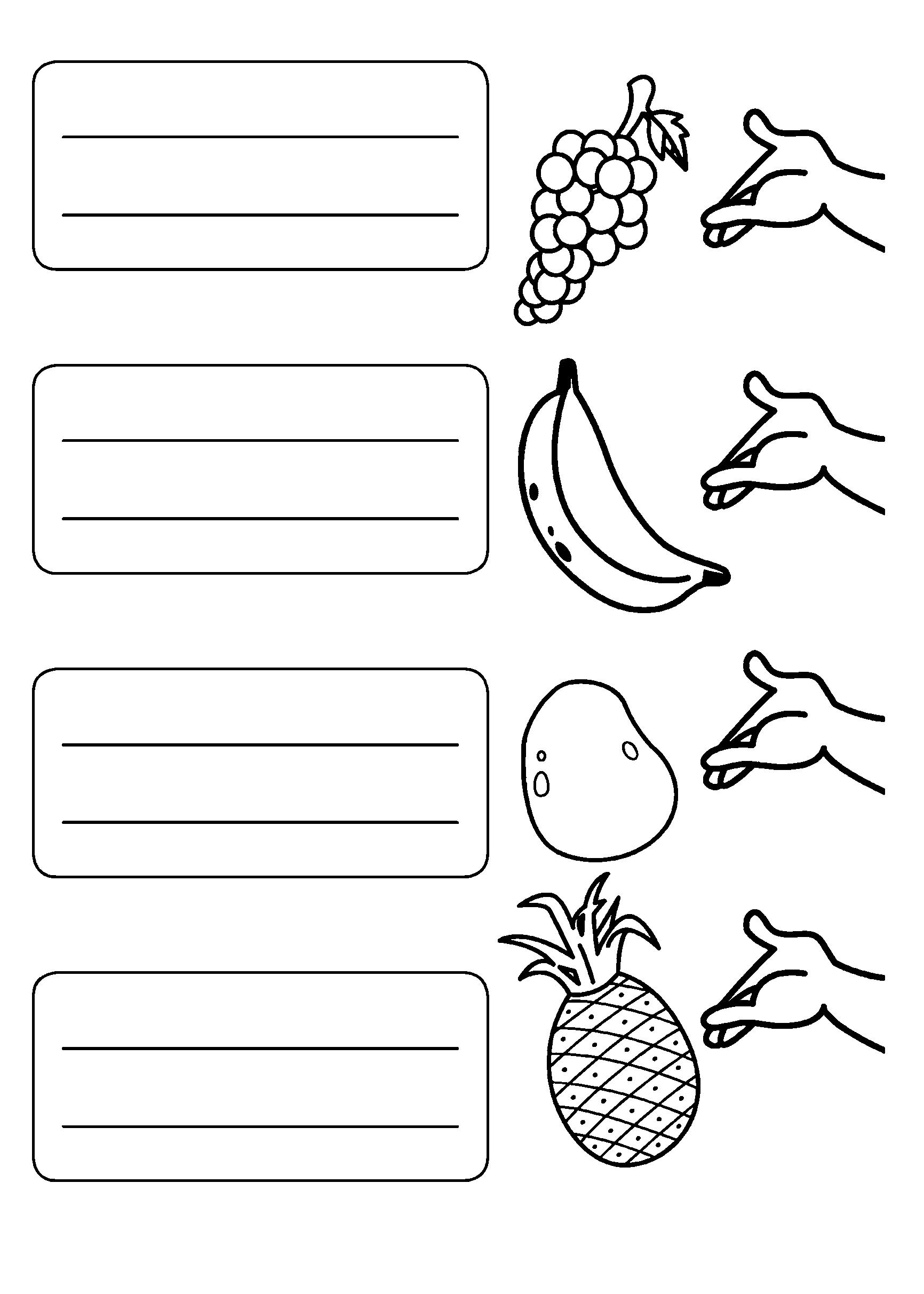 Atividades em inglês das frutas e vegetais