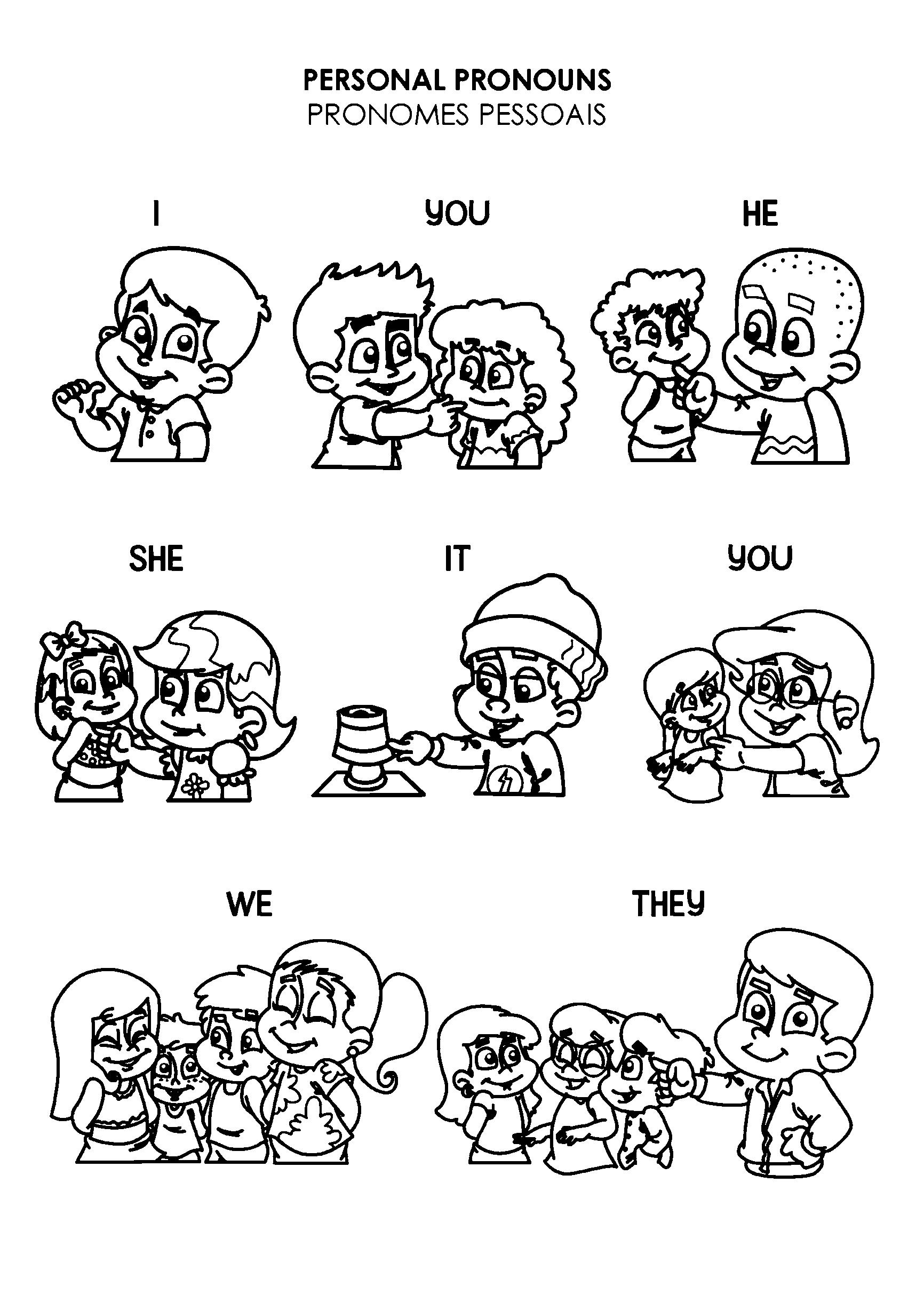 Atividade com os ponomes pessoais em inglês
