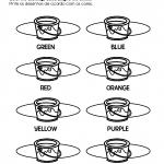 atividade sobre as cores em inglês