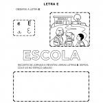 Atividades com a Letra E para alfabetização
