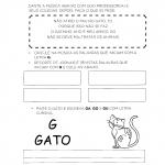 Atividades com a Letra G para alfabetização