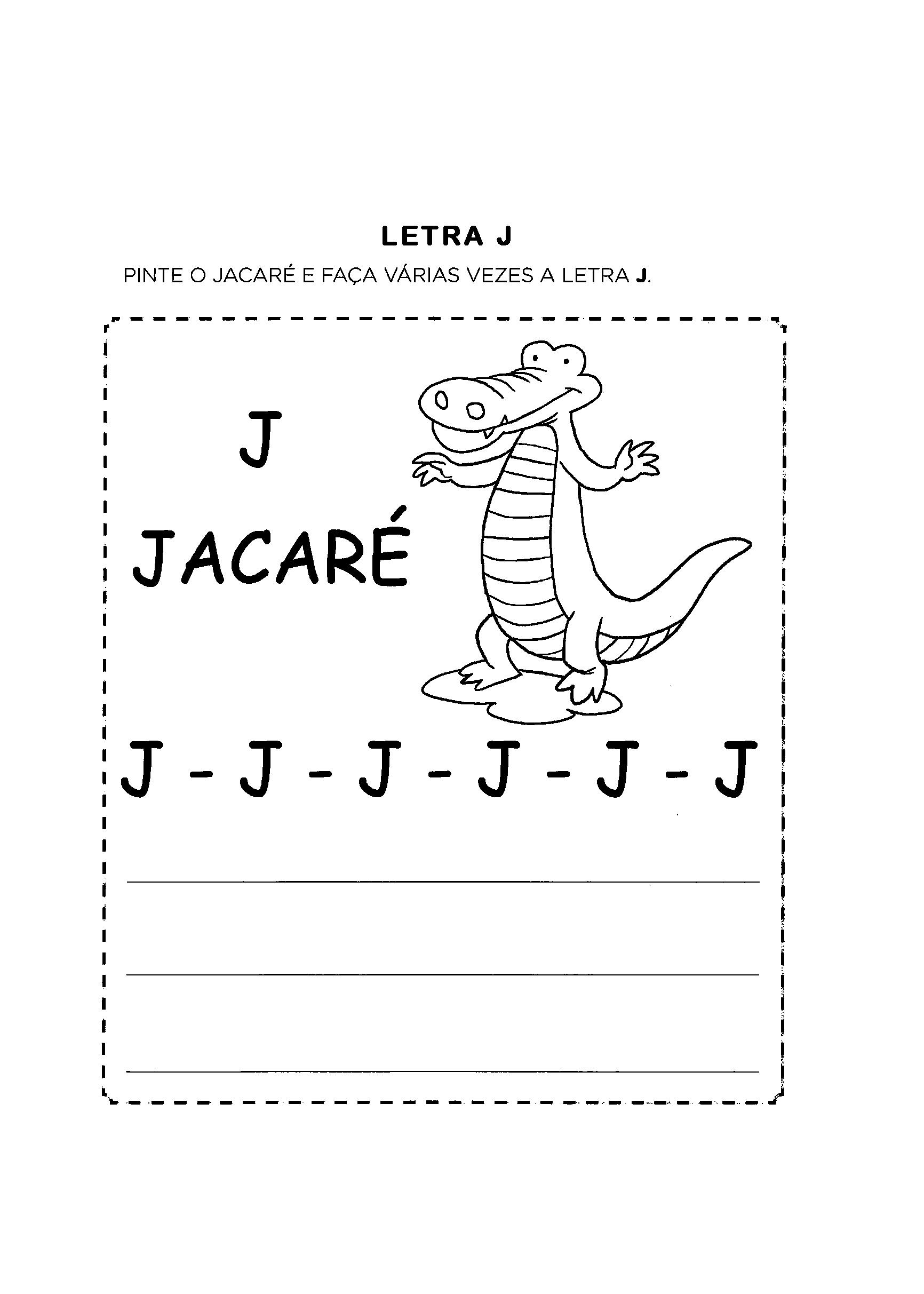 Amado Atividades com a Letra J para alfabetização - Só Atividades WO67