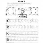 Atividades com a Letra K para alfabetização