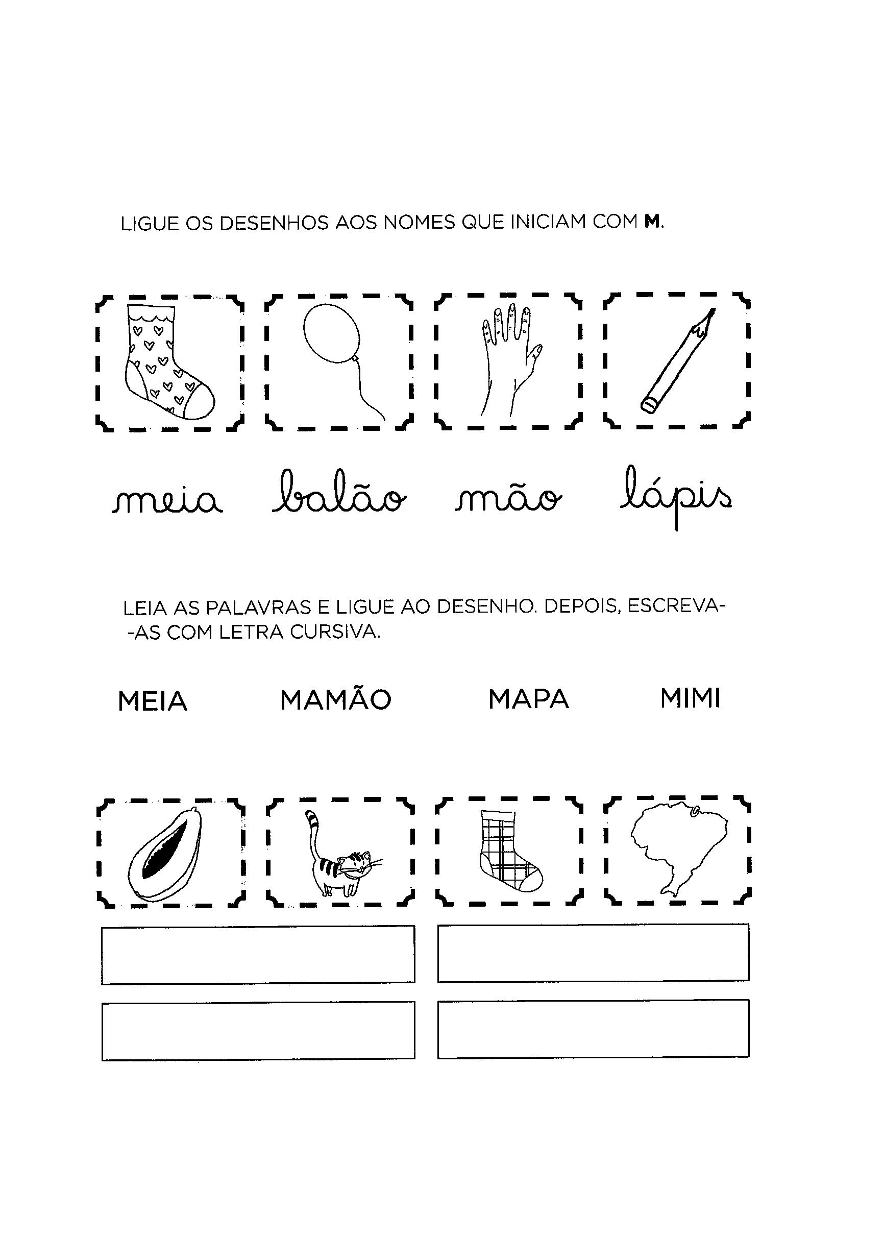 Ligar palavras aos desenhos
